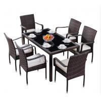 Wholesale PE Rattan wicker furniture Dining chair and table Outdoor garden  chair from china suppliers