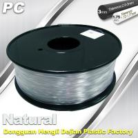 Wholesale Good Transmission of Light PC 3D Printer Transparent Filament 1.75mm / 3.0mm from china suppliers