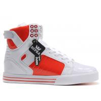 Wholesale Orange / white supra fashion sport footwear high skateboard shoes from china suppliers