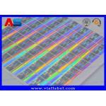 China 3D Holographic VOID Sticker 20mm Square Custom Hologram Labels Printing Genpharma Logo for sale