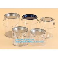 aluminum tin aluminum container jar with clear window top aluminum cans with screw lid for cosmetic/food bagplastics pac for sale