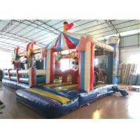 China Inflatable circus clown fun city new design inflatable clown multiplay fun park on sale for sale