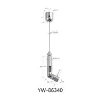 Wholesale Ceiling Light Suspension Kit Nickel Plated Brass With Adjustable Gripper YW86340 from china suppliers