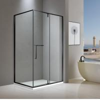 Buy cheap Rectangular matt black stainless steel shower enclosure 900*1400 with one hinge from wholesalers