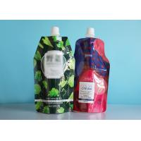 Custom  Eco Friendly Spout Pouch Bags In Stand Up Bottom For Liquid Refill Soap Pack for sale
