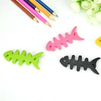 China Cable drop clips cute fish bone earphone wire holding management useful cable winder on sale