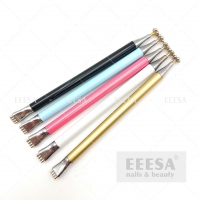 Wholesale Aluminum Metal Nails Beauty Cat Eye Gel Polish Magnetic Flower Magic Stick from china suppliers