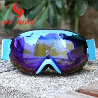 Mirror Coating Anti Fog OTG Ski Goggles With Two Way Venting For Clear And Clean Vision