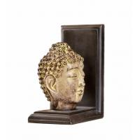China Feng Shui Buddha Head Gold Arrow Bookends , 2 Set Resin Kids Room Bookends for sale