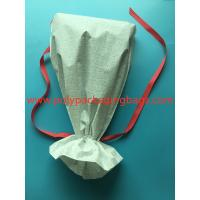 China White CPE Drawstring Plastic Bags For New Year Gift / Women 'S Personal Items for sale