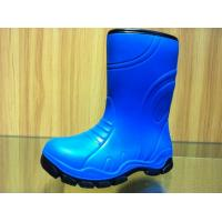 Wholesale Little Boy Funky Blue Childrens Rain Boots Lambs Wool Lining from china suppliers
