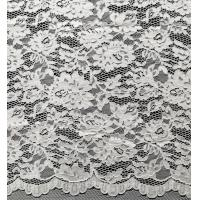 China Nylon Bridal Lace Fabric With Flower and Leaf Pattern for sale