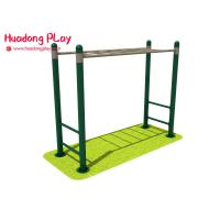 China Athlete Outdoor Fitness Equipment , Exercise Street Workout Machines In Parks With Adult Monkey Bars for sale