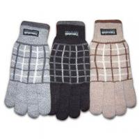 Wholesale 100% Acrylic Knitted Gloves with Jacquard Pattern from china suppliers