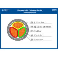 Nominal Section:3*25~3*400mm² 3 Cores 0.6/1kV CU/AL LV Cable, XLPE Insulated Armoured Power Cable(AL/CU/N2XB2Y)