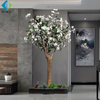 China Modern Design Artificial Flower Tree , Artificial Frangipani Tree 2m Height for sale