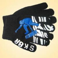 Wholesale Knitted Glove Made of 100% Acrylic, Available in Various Colors from china suppliers