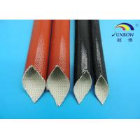 Wholesale Silicone Coated Fiberglass Expandable Braided Sleeving / Sleeves / Tubing / Pipes from china suppliers