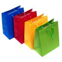 Wholesale Personalized Printed Paper Gift Bags , Colorful Rope Handle Paper Bags from china suppliers