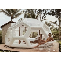 Wholesale 0.6mm PVC Inflatable Jungle Bubble Lodge Tent Football Shape from china suppliers