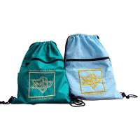 China Drawstring Nylon Storage Bags 420D Nylon Fabric Back Bags With Emboidery Logo on sale