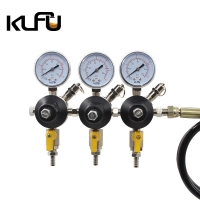 Buy cheap Dual Gauge 90PSI CO2 Pressure Reducing Valve Inlet Size CGA580 from wholesalers
