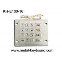 China Weatherproof Metal Keypad with Top Panel Mounting , 16 button Checking device keypad for sale