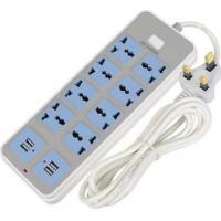 Wholesale USB smart plug-in home multi-function socket European style plug from china suppliers