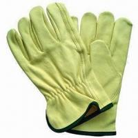 Safety Gloves, Driver Type, Made of Cow Grain Leather, Keystone Cuff, Comes in S to XL for sale