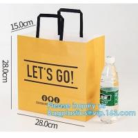 Wholesale Promotion Recycled Custom Printed Grocery Food Take Away Shopping Brown Kraft Paper Bag With Twisted Handles, bagease from china suppliers