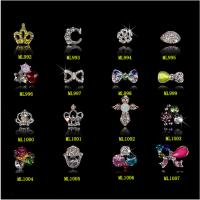 Womens Zircon Alloy Bow 3D Nail Art Tips Stickers Decoration Jewelry ML992-1007