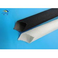 Wholesale 400 - 600 degree Uncoated Fiberglass Sleeving Black / White Good Strength from china suppliers