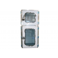 Wholesale Electromagnetic SUS201 Combination Cleanroom Pass Through Box Interlocking Doors from china suppliers