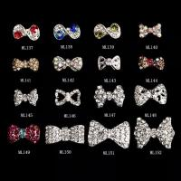 Best 3D Bow SUPERIOR Alloy Jewelry Nail Art Decoration Glitter Rhinestones ML137-152 wholesale