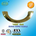Best Simple Gold Metal Coffin Handles Italy Style Zinc Alloy For Coffin Half moon shape H005 zamak coffin handle wholesale