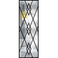 Decorative Wrought Iron Glass For Door Agon Filled 22*64 Inch Size Shaped for sale