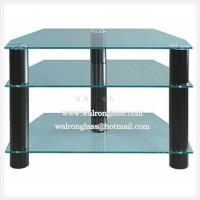Wholesale Traditional 3 Layers TV Cabinet/Stand with Tempered/Toughened Glass from china suppliers