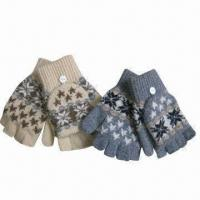 Wholesale Jacquard magic half fingers gloves with cap from china suppliers
