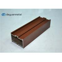 Wholesale Red Powder Coated Wood Grain Aluminum Profiles For Construction from china suppliers