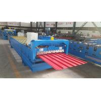 Best Trapezoidal Roof Wall Panel Roll Forming Machine Sheet Metal Roll Former Touch Screen wholesale