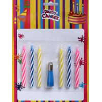 Wholesale 3 Colors Spiral Birthday Candles with 1 Musical Holder (YYC0018) from china suppliers