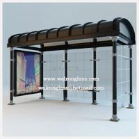 Wholesale Bus Stop Shelter with Transparent Tempered/Toughened Glass from china suppliers