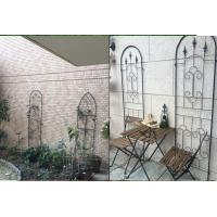 Wholesale Black Color Garden Plant Trellis / Metal Garden Trellis Simple Understated Design from china suppliers
