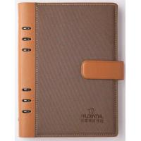 China PU cover refillable leather journal six rings binding _China printing factory on sale