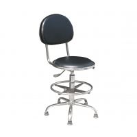 Wholesale Laboratory 140mm Pneumatic Rod Ergonomic Swivel ESD Chairs from china suppliers