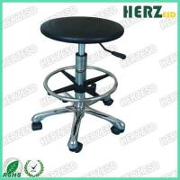 Wholesale Swivel Round Clean Room Stools , Diameter 325mm Lab Stools With Wheels from china suppliers