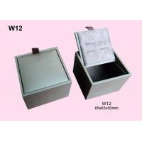 Wholesale White Fancy Paper Wrapped Wooden Cufflink Box, Gift Packaging Boxes Customized from china suppliers