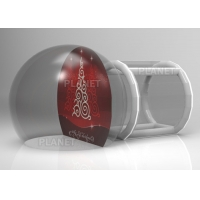 Wholesale Custom Backdrop Inflatable Christmas Photo Snow Globes With Tunnel from china suppliers