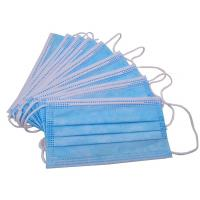 Wholesale Non Woven 3 Ply Disposable Face Mask Consumable Blue Color Anti Pollution from china suppliers