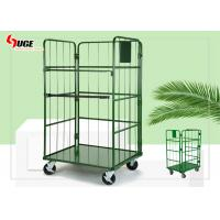 L Shaped Movable Roll Container Trolley Environment - Friendly And Healthy Refrigerated Cage With Plastic Spray for sale